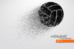Silhouette of volleyball ball. Royalty Free Stock Photo