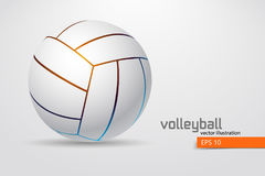 Silhouette of volleyball ball. Stock Image