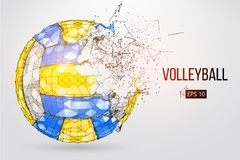 Silhouette of a volleyball ball. Vector illustration. Royalty Free Stock Photo