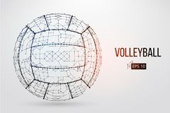 Silhouette of a volleyball ball. Vector illustration. Royalty Free Stock Photography