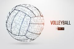 Silhouette of a volleyball ball. Vector illustration. Stock Images