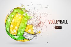 Silhouette of a volleyball ball. Vector illustration. Royalty Free Stock Photos