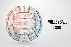 Silhouette of a volleyball ball. Vector illustration. Royalty Free Stock Images