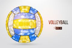 Silhouette of a volleyball ball. Vector illustration. Stock Image