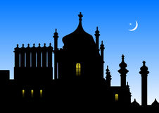 Silhouette of the Vorontsov Palace in Alupka Crimea in vector Stock Images