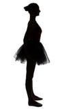 Silhouette of waiting teenage girl Stock Photography