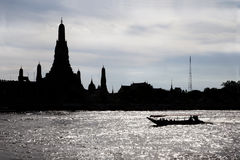 Silhouette Wat Arun Buddhist religious places Stock Photography