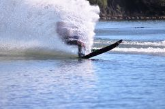 Silhouette water skier ! Royalty Free Stock Photography