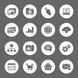 Silhouette web icons Stock Photo