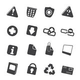 Silhouette Web site and computer Icons Stock Images