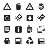 Silhouette Web site and computer Icons Stock Image