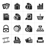 Silhouette Web Site and Internet icons royalty free illustration