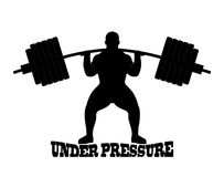 Silhouette weight lifter Stock Image