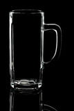 Silhouette of white beer glass Royalty Free Stock Images