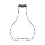 Silhouette wide glass bottle down Stock Photography