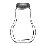 Silhouette wide glass bottle with lid Stock Photo