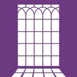 Silhouette the window frame - imitation of light. Illustration Stock Image