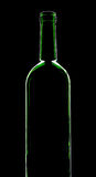 Silhouette of wine bottle Royalty Free Stock Photos