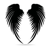 Silhouette wings. Vector illustration on white background. Black. And white style Royalty Free Stock Photography
