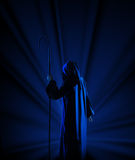 Silhouette of witch Royalty Free Stock Images