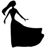 SILHOUETTE OF THE WOMAN Stock Photos