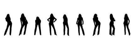 Silhouette of the woman Royalty Free Stock Images