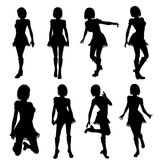 silhouette of woman Stock Images