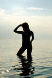 Silhouette of woman Royalty Free Stock Image