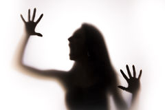 001 silhouette woman Royaltyfri Foto