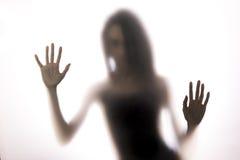 001 silhouette woman Arkivfoton
