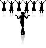 Silhouette woman Royalty Free Stock Photography