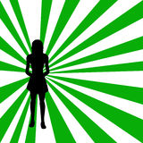 Silhouette of a woman. Woman on a retro background- additional ai and eps format available on request Royalty Free Stock Images