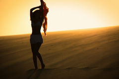 001 silhouette woman 免版税库存图片