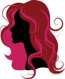Silhouette of the woman. Vector illustration for design Royalty Free Stock Photos