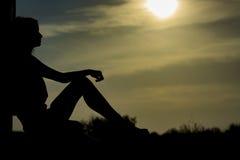 001 silhouette woman Стоковая Фотография