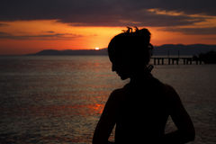 001 silhouette woman 库存图片