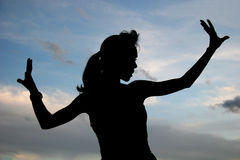 Silhouette Of A Woman stock photo