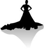 001 silhouette woman Στοκ εικόνα με δικαίωμα ελεύθερης χρήσης