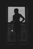 Silhouette of A Woman Stock Photography