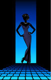 Silhouette of the woman Royalty Free Stock Photography