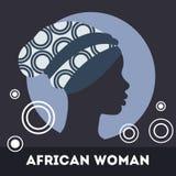 Silhouette of woman. Beautiful black woman. Illustrtion Stock Photography