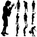 Silhouette of woman Royalty Free Stock Photography