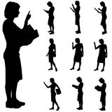 Silhouette of woman Royalty Free Stock Images