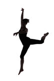 Silhouette of woman dancer royalty free stock image