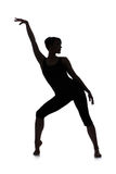 Silhouette of woman dancer stock photo