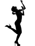 Silhouette woman dancing flamenco Royalty Free Stock Photography