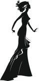 Silhouette of woman Stock Photos