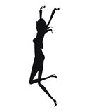 Silhouette woman fashion slim Royalty Free Stock Images