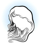 Silhouette of a woman head Royalty Free Stock Photos