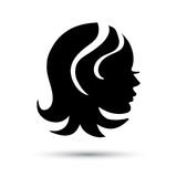 Silhouette woman  head icon Royalty Free Stock Image